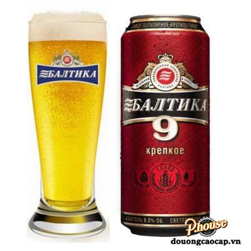 Bia Baltika 9 8% – Lon 450ml – Bia Nhập Khẩu