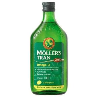 Dầu Gan Cá Tuyết Hương Chanh (Moller's Tran, Sitronsmak)