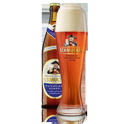Bia Schmucker Hefeweizen Dunkel 5% – Chai 500ml