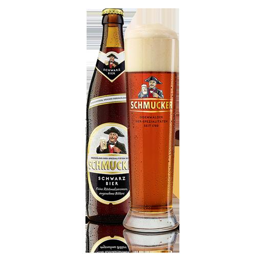 Bia Schmucker Schwarz  Bier 4,8% – Chai 500ml
