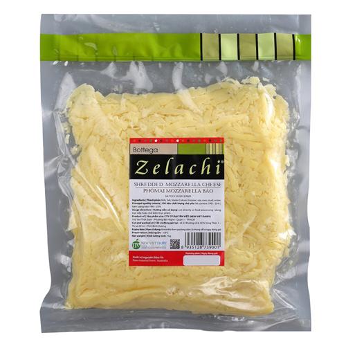 Phô Mai Mozzarella Sợi Bottega Zelachi – Gói 1 Kg