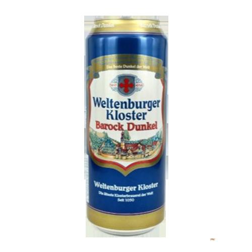 Bia Weltenburger Kloster Barock Dunkel 4.7% – Lon 500ml – Thùng 24 Lon