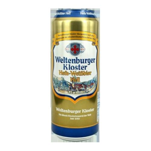 Bia Weltenburger Kloster Hefe-Weissbier Hell 5.4% – Lon 500ml – Thùng 24 Lon