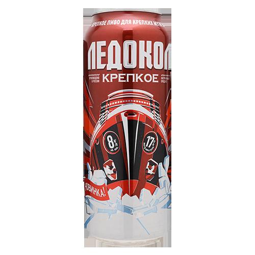 Bia Tàu Phá Băng Ledokol 8% – Lon 500ml – Bia Nga Nhập Khẩu TPHCM
