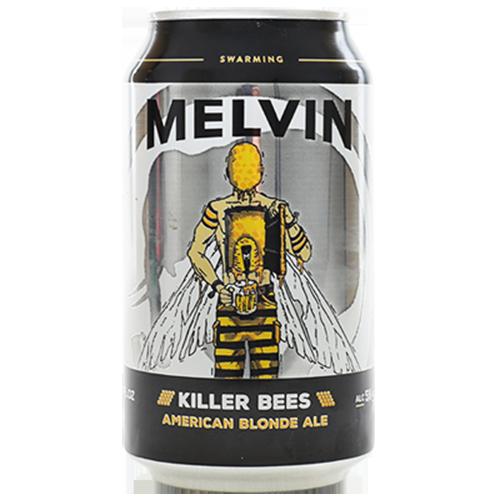Bia Melvin Killer Bees 5% – Lon 355ml – Bia Mỹ Nhập Khẩu TPHCM