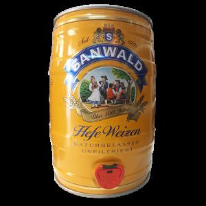 Bia Sanwald Hefe Weizen 4.9% - Bom 5l - Bia Đức Nhập Khẩu TPHCM