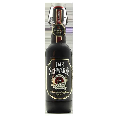Bia Schwaben Bräu Das Schwarze 4.9% – Chai 500ml – Bia Đức Nhập Khẩu TPHCM