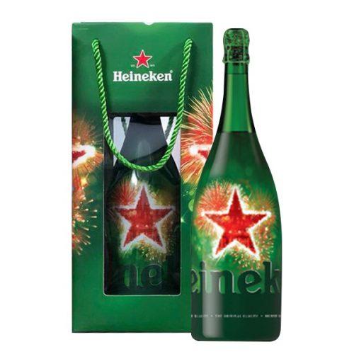 Bia Heineken Hà Lan Qùa Tặng 5% – Chai 1.5l Magnum – Bia Hà Lan Nhập Khẩu TPHCM