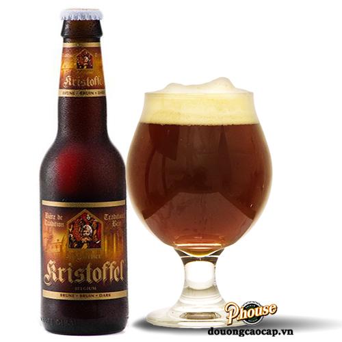 Bia Kristoffel Brune 6% – Chai 330ml – Bia Bỉ Nhập Khẩu TPHCM