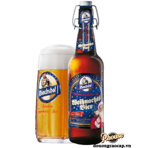 Bia Mönchshof Weihnachtsbier 5.6% – Chai 500ml – Bia Đức Nhập Khẩu TPHCM