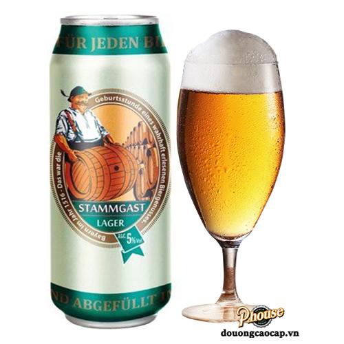 Bia Stammgast Lager 5% – Lon 500ml – Bia Đức Nhập Khẩu TPHCM