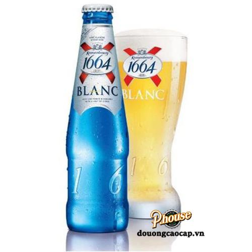 Bia 1664 Blanc 5% – Chai 250ml – Bia Pháp Nhập Khẩu TPHCM