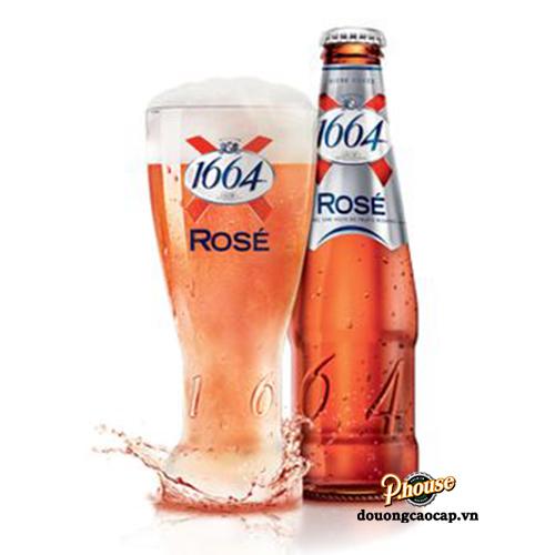 Bia Kronenbourg 1664 Rose 4.5% – Chai 250ml – Bia Pháp Nhập Khẩu TPHCM
