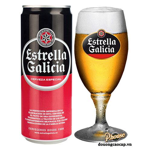 Bia Estrella Galicia Cerveza Especial 5.5% – Lon 500ml – Bia Tây Ban Nha Nhập Khẩu TPHCM