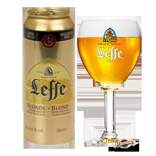 Bia Leffe Blonde 6.6% – Lon 500ml – Bia Bỉ Nhập Khẩu TPHCM