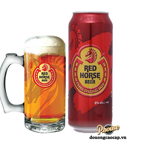 Bia Red Horse 8% – Lon 500ml – Bia Philippin Nhập Khẩu TPHCM