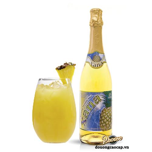 Nước Trái Cây Có Gaz Xana Pineapple Juice Vị Dứa Không Cồn – Chai 750ml – Nước Trái Cây Tây Ban Nha Nhập Khẩu TPHCM