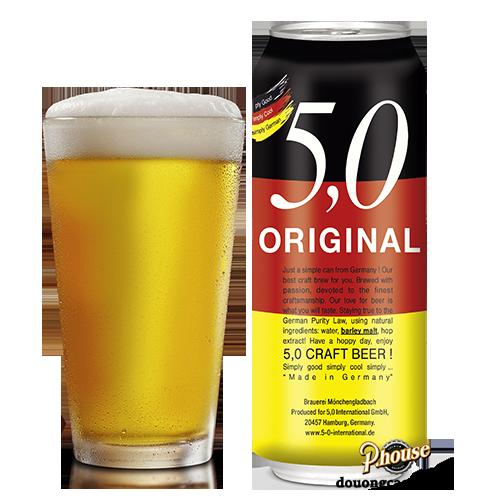 Bia 5,0 Original Craft Beer 5% – Lon 500ml – Bia Đức Nhập Khẩu TPHCM