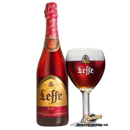Bia Leffe Ruby 5% – Chai 750ml – Bia Bỉ Nhập Khẩu TPHCM