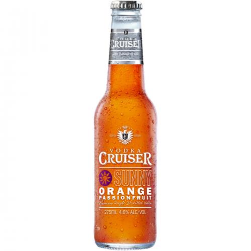 Rượu Trái Cây Vodka Cruiser Sunny Orange 4.6% – Chai 275ml – Rượu Nhập Khẩu TPHCM