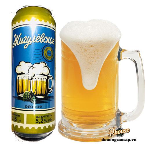 Bia Bia Zhiguli 4,9% – Lon 500ml – Bia Nga Nhập Khẩu TPHCM