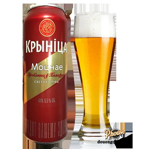 Bia Krynica Strong 6.5% – Lon 500ml – Bia Nga Nhập Khẩu TPHCM