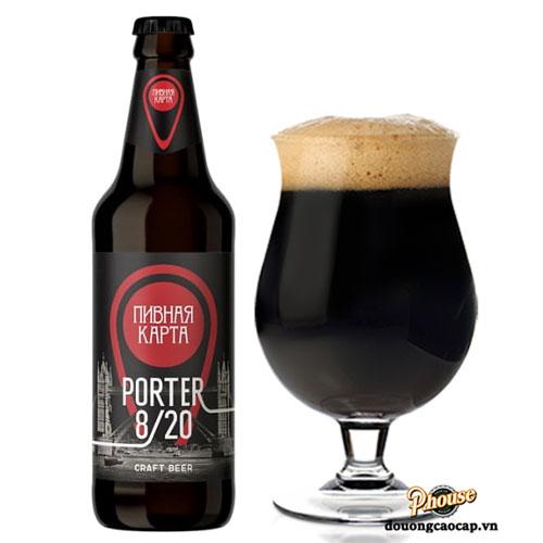 Bia Porter 8/20 8.5% – Chai 500ml – Bia Nga Nhập Khẩu TPHCM