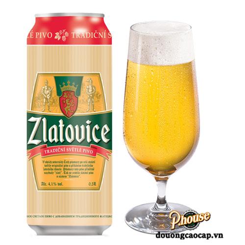 Bia Zlatovice 4.1% – Lon 500ml – Bia Tiệp Nhập Khẩu TPHCM