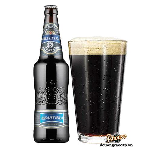 Bia Baltika 6 Porter 7% – Chai 470ml – Bia Nga Nhập Khẩu TPHCM