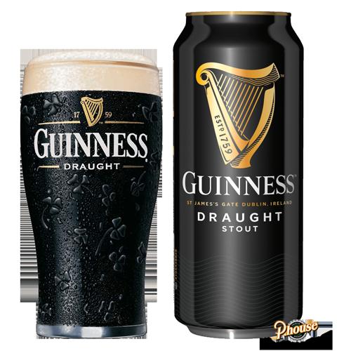 Bia Guinness Draught Stout 4.1% – Lon 440ml – Bia Ireland Nhập Khẩu TPHCM