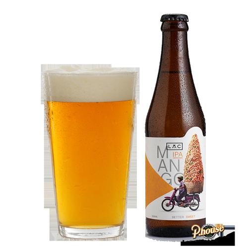 Bia Lạc Mango IPA 5.5% – Chai 330ml – Bia Thủ Công TPHCM