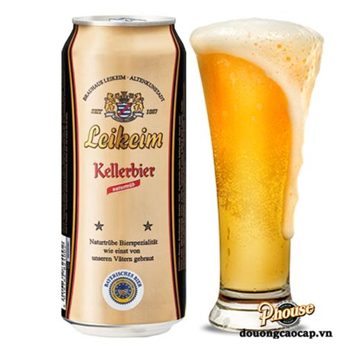 Bia Leikeim Kellerbier 4.9%  – Lon 500ml – Bia Đức Nhập Khẩu TPHCM