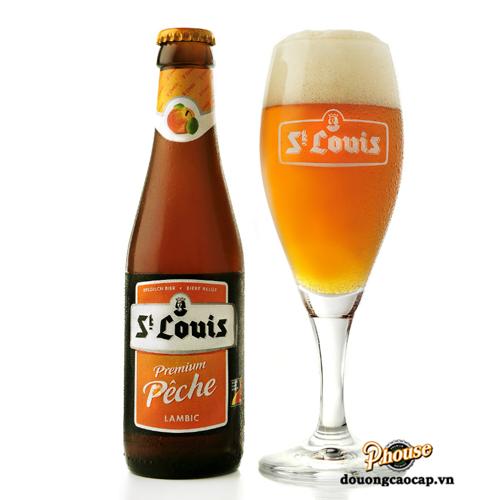Bia St Louis Premium Peche 2.6% – Chai 330ml – Bia Bỉ Nhập Khẩu TPHCM