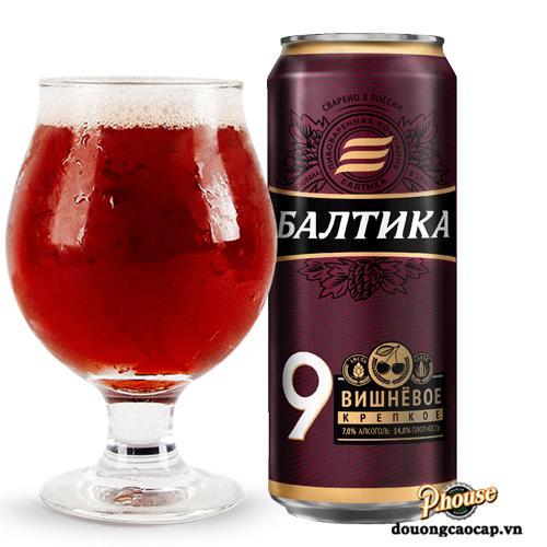 Bia Baltika 9 Vishnjovoe Cherry 7% – Lon 450ml – Bia Nga Nhập Khẩu TPHCM
