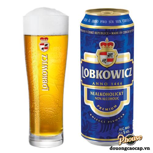 Bia Lobkowicz Nealko Non Alcoholic Pale Ale 0.5% – Lon 500ml – Bia Tiệp Nhập Khẩu TPHCM