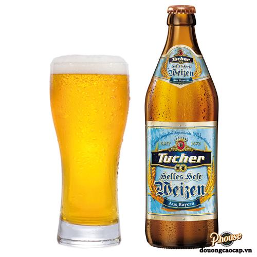 Bia Tucher Helles Hefeweizen 5.2% – Chai 500ml – Bia Đức Nhập Khẩu TPHCM