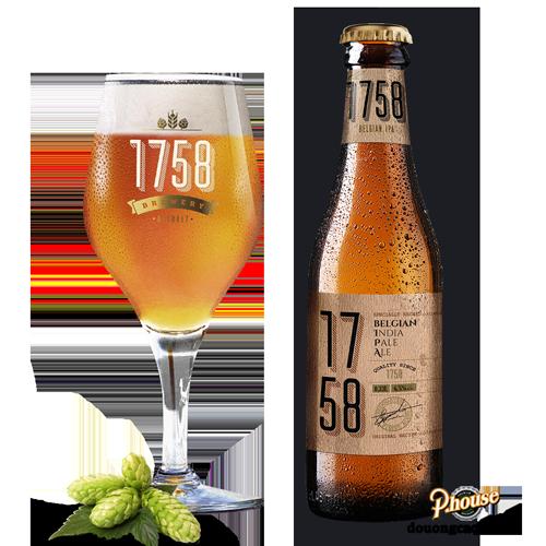 Bia 1758 6.5% – Chai 330ml – Bia Bỉ Nhập Khẩu TPHCM