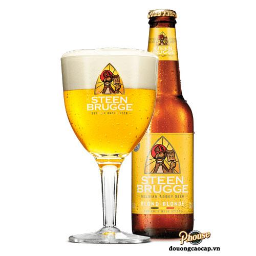Bia Steenbrugge Blond 6.5% – Chai 330ml – Bia Bỉ Nhập Khẩu TPHCM